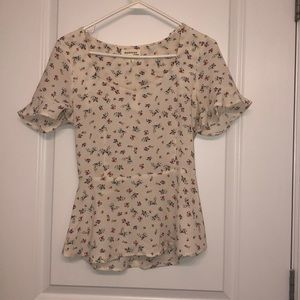 Causal flower monteau blouse